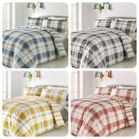 Fusion BALMORAL Tartan Checked Reversible Easy Care Duvet Cover Set