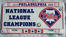 Philadelphia Phillies 1993 National League Champions License Plate