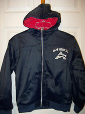 Avirex Navy Blue Reversible Full Zip Zipper Fleece Jacket Boys Size 12 / 14 NWT