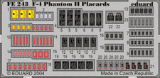 Eduard Zoom FE243 1/48 McDonnell F-4 Phantom placards
