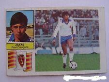 Cromo Liga 82-83 Zayas Real Zaragoza. Ediciones Este. Nuevo