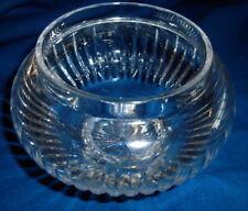 "Stuart Cut Crystal Rose Bowl - 6"" Diameter - Gorgeous!"
