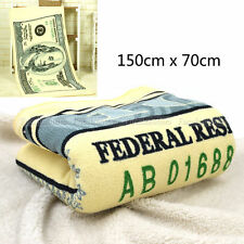 Cotton Bath Towel Novelty  $100 Cash Printed Towel Hamam Sauna Spa 150*70cm