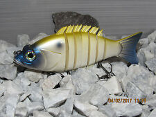 """6"""" hard body swimbait in  Perl White  Shad  color"""
