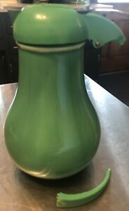 Vintage Authentic Original Fiesta Ware Syrup Green With as-is Lid Excellent Jar