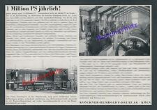 Klöckner-Humboldt-Deutz AG Köln Staatsbahn Rumänien Astra Romana Bohrtechnik ´39