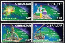 Gibraltar 1994 Europa Scientific Discoveries SG 717 - 720 Unmounted Mint