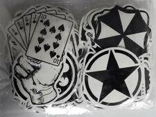 120 St Aufkleber Schwarz-Weiß im Set B Stickers Auto Skateboard Decals Graffiti