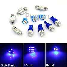 11PCS Blue LED Lights Interior Package T10 31mm Map Dome for Ford