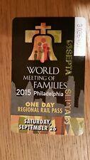 Pope Train Pass Philadelphia Paoli Line Radnor September 26th Saturday Ticket
