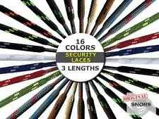 SECURITY SHOELACES - 16 Colors - 3 Lengths - Laces For Work Shoes & Hiking Shoes