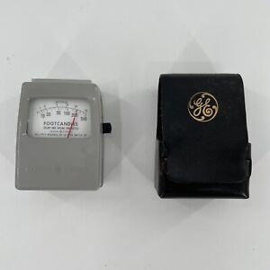 Ge General Electric Foot Candles Light Meter W Case Vtg Type 213 Free Shipping