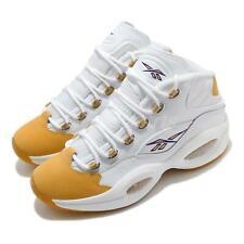 Reebok Question Mid White Yellow Toe Kobe Bryant Men Basketball Shoes FX4278