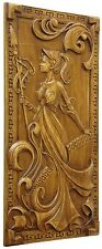 HANDMADE DECORATIVE CARVED WOODEN WALL PANEL FINE ASH-TREE WOOD  COOL GIFT IDEAS