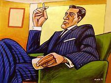 MAD MEN PRINT poster don draper jon hamm amc final season whiskey glass cigarett