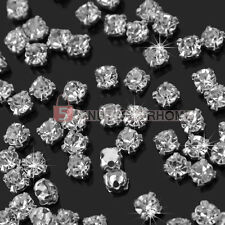 200 Strass Perle Perline Trasparente 3mm Decorazione Scarpe Borse Abiti Gioielli