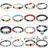 Charm 7 Chakra Healing Beaded Bracelet Natural Lava Stone Diffuser HOT Jewelry