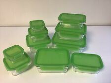 Glasslock 10er Set Frischhaltedosen Vorratsdose Glas Dose Behälter Limone  R2+