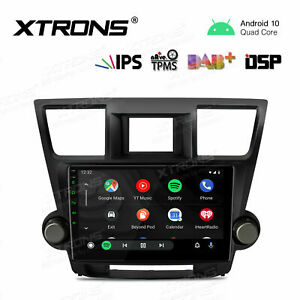 10.1'' Android 10.0 Car GPS Stereo Radio DSP IPS For Toyota Highlander 2008-2013