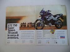 advertising Pubblicità 1990 MOTO YAMAHA XTZ 750 SUPERTENERE' SUPER TENERE'