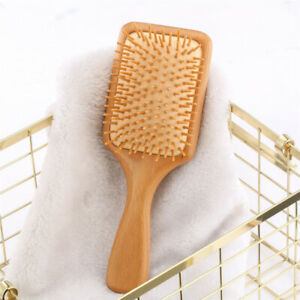 Anti-static Bamboo Wooden Hair Care Brush Massage Comb Scalp Air Cushion Combs