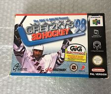 1998# VINTAGE NINTENDO 64 NHL  WAYNE GRETZKY'S 3D HOCKEY 98#PAL NIB