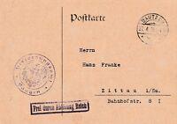 Postkarte verschickt von Bautzen nach Zittau aus dem Jahr 1928 wertvolle Stempel