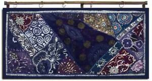 """33% OFF 40"""" TRADITIONAL SARI DÉCOR IND BEADED WALL HANGING TAPESTRY RUNNER THROW"""