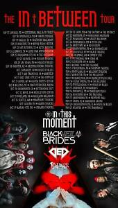 In This Moment + Black Veil Brides 2021 Posters | Unframed Premium Paper Posters
