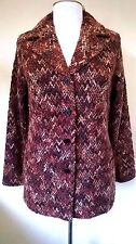Classics brown mix boucle style hip length smart jacket/blazer UK 14 BNWT