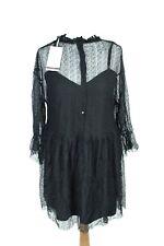 ZARA BNWT black loose long sleeve midi dress size L