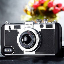 Luxury Retro 3D Camera Lanyard Shockproof Phone Case Cover For iPhone X 8 7 Plus