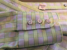 Bluse Damen Karo Blau Grün Vollzwirn 100% Baumwolle sehr edel Gr. M