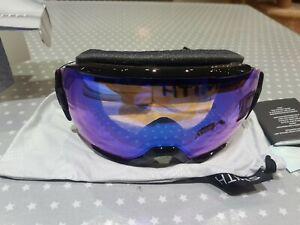 Smith Optics Black Frame ChromaPop Rose Flash Lens - Ski/Snowboard goggles. NEW