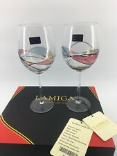 Lamiga Handmade Crafts Glass Red Wine Wedding Engagement Romantic Glasses