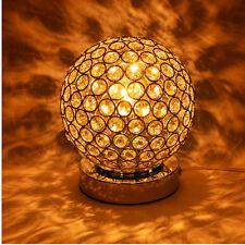 Vintage Crystal Table lamp French Chrome Chandelier Bedroom Warm White LED Light