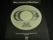 Wednesday Last Kiss - The Return Of Hot Lips original 1973 Promo Poster Ad mint