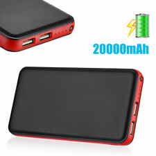 20000mAh Power Bank Dual USB Portable Charger External Battery For Cell Phone