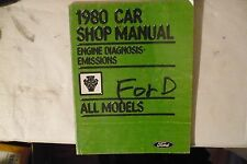 1980 Ford Car Shop Manual Engine Diagnosis/Emissions All Models FREE S&H For BIN