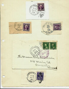 """Page """"RPO Railroad RMS"""" Date Town Fancy Cancel 3 Cent 1938 President US S12"""