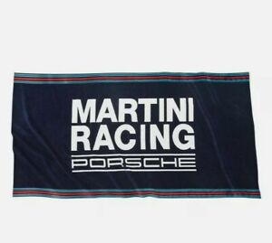 Porsche Driver's Selection Beach Towel - Martini Racing Collection- As new cond