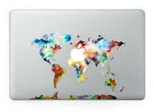 World map computer case mods stickers decals ebay colorful world map sticker viny decal apple macbook airproretina 1315 gumiabroncs Image collections