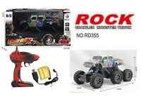 1:14 RC 6 WHEEL ROCK CRAWLER MONSTER TRUCK Remote-Control Off-Road Car RTR Toy