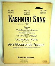 1930 Kashmiri Song Laurence Hope Amy Woodforde Finden Garden of Kama Sheet Music