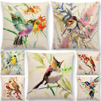 Pillow Bird Cushion Tree Cotton Linen Case Cover Sofa Car Waist Cover Home Decor