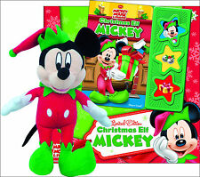 Disney Mickey Mouse: Limited Ed Christmas Elf Mickey fun sounds Book Plush Set