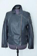 Barbour Sherco Leather Biker Jacket Navy Uk18 Us14 Euro 44 Llt0079ny91