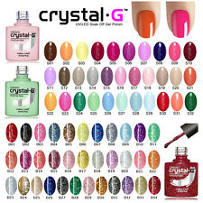 Diamond Glitter Nail GEL Polish by Crystal-g UV LED Soak 8ml Post D34