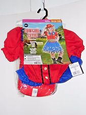 Child Girl M/8-10 Cowgirl cutie Farm Halloween Party Costume Decoration