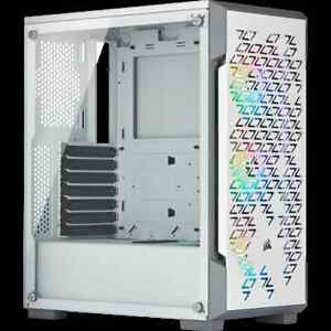 Corsair iCue 220T RGB White Smart Tempered Glass Mid Tower Case - CC-9011174-WW